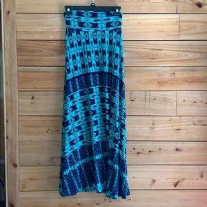 Renee C Jordie Ikat Print Maxi Skirt
